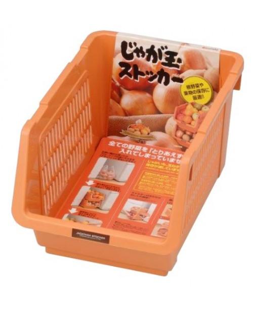 Giá đựng hoa quả, đồ khô dạng lưới màu cam