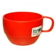 Cốc sup màu đỏ
