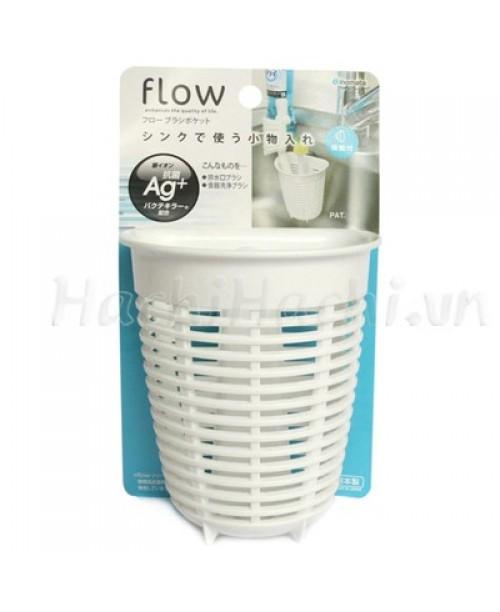 Giá để giẻ rửa bát hình rổ dáng sâu màu trắng